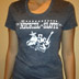 Women's gray T-shirt photo