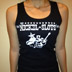 Women's black tank top photo