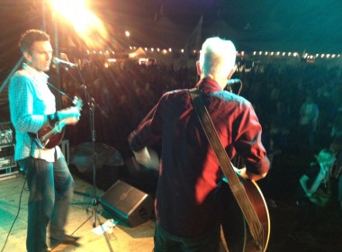 Paul and Tony onstage at Zomerfeest