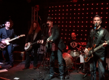 The Nickel Slots onstage with Jack Gibson (Exodus)
