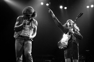 Concert photo of AC/DC from 1983