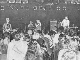 Concert photo of the band X from 1981