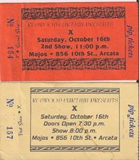 Ticket stub from Tony's X concert