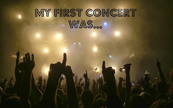 Photo of a concert audience - My first concert was...