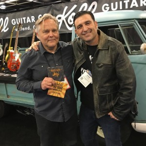 Steve with Saul Koll of Koll Guitars