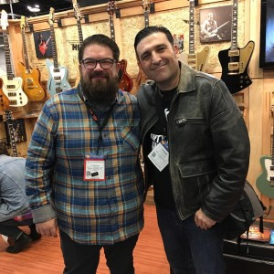 Steve with Doug Kauer of Kauer Guitars
