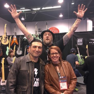 Steve with Ken and Penny Haas of Reverend guitars