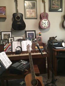 Photo of Tony's music room